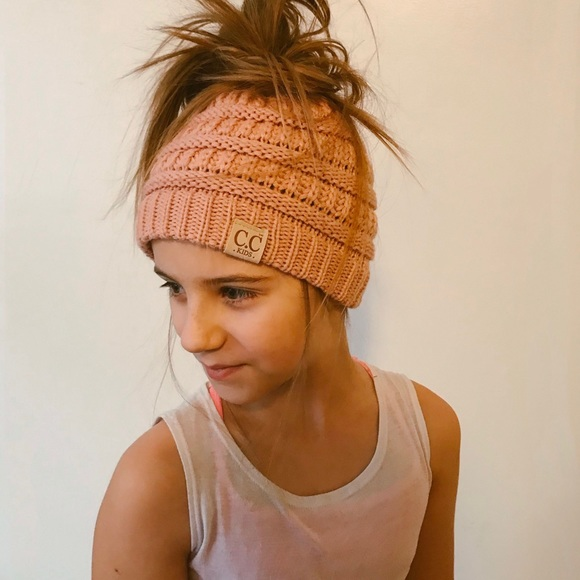 9b1a6a771f6 CC Messy Bun Beanies for Adults and Kids